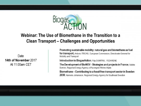 Pozvánka na webinář na téma využití biometanu v dopravě