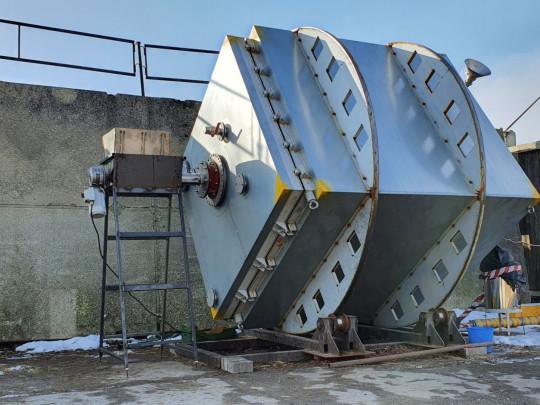 Aerobní - anaerobní  mobilní kontejnerový rotační bioreaktor